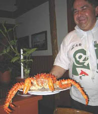 Hosteria Outsider, Puerto Varas, Restaurant, Kings Crab